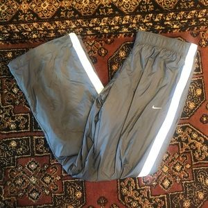 Nike Grey and White Track Pants, Size XL